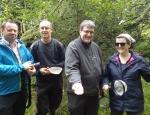 Volunteers enjoying Pond Mud Snail training copyright Anne Heathcote