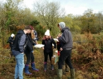 Students carrying out surveys at Breney Common copyright Francesca Dunn