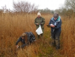 Volunteers testing for water quality at Cothill Fen copyright Judy Webb