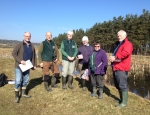 Volunteers helping with the Foxglove Covert WaterBlitz copyright Anne Heathcote