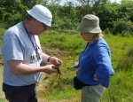 National stonewort recorder Nick Stewart at Grove Farm copyright Pete Case