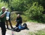 Friends of Headley Heath sampling the ponds for GCN eDNA copyright Francesca Dunn