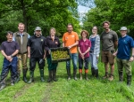 Planting Adder's-tongue Spearwort group copyright South Gloucestershire Council