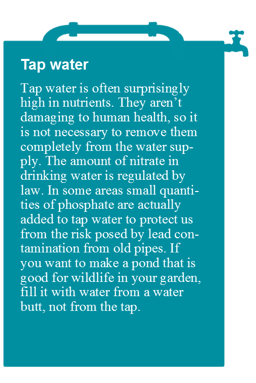 Tap water with text