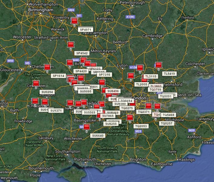 eDNA Survey Site Map