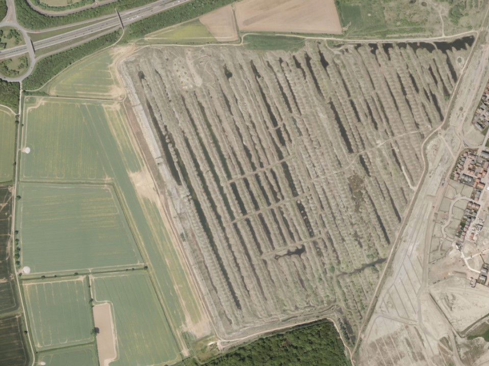 Aerial view of Orton Pits (c) Peterborough City Council 2010